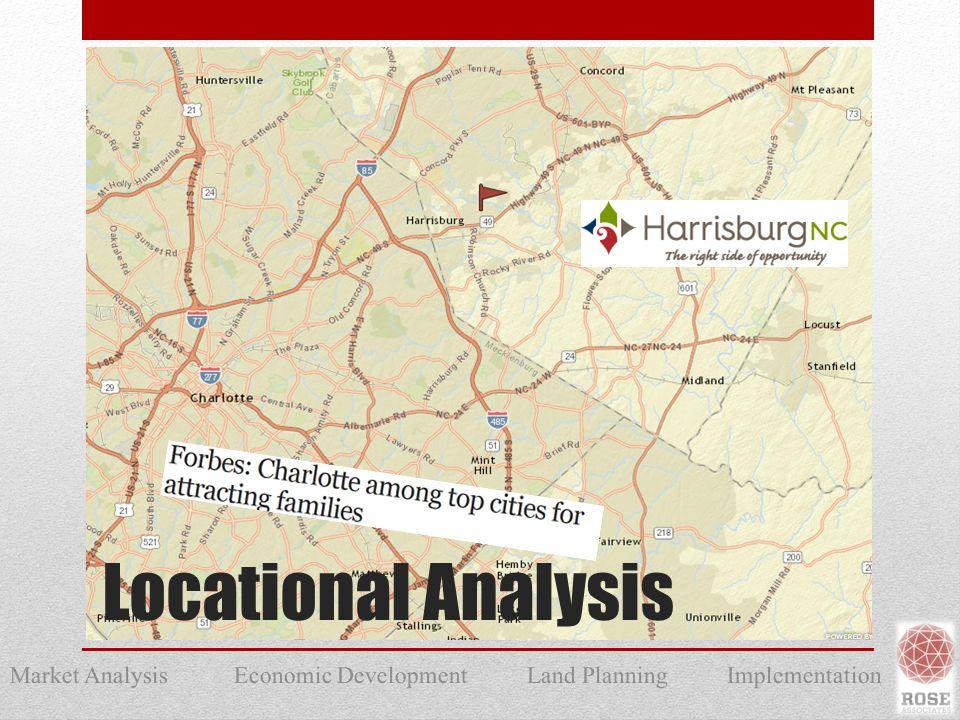 Market Analysis Economic Development Land Planning Implementation Locational Analysis