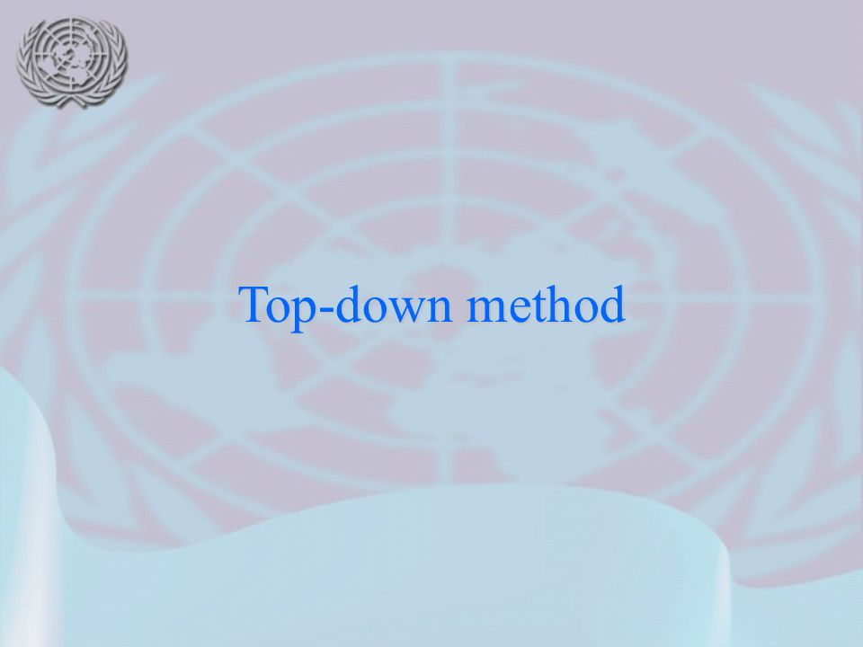 Top-down method