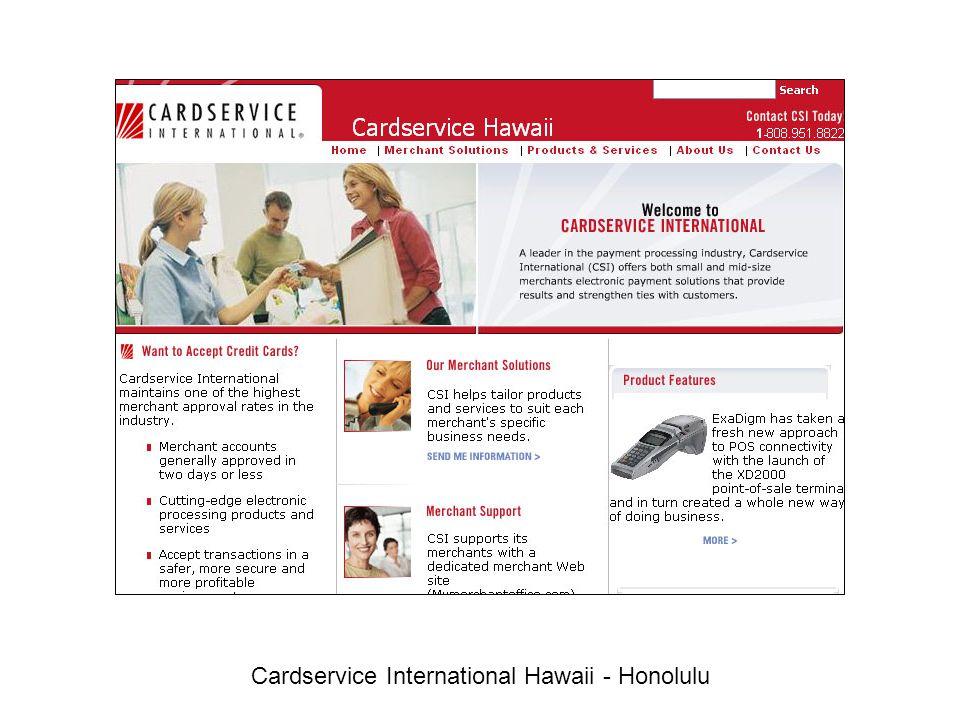 Cardservice International Hawaii - Honolulu