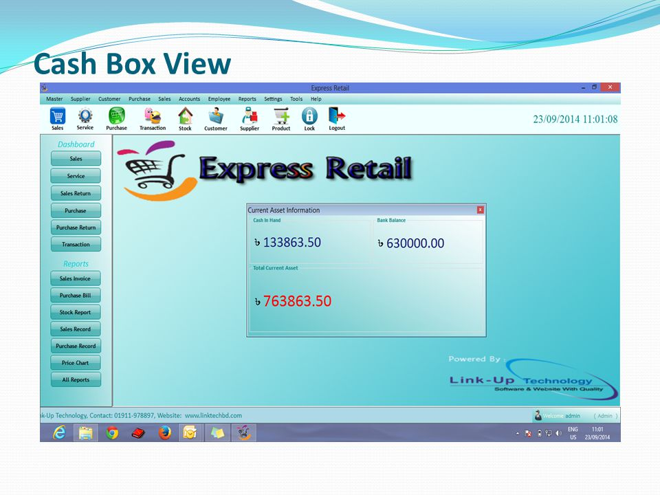 Cash Box View