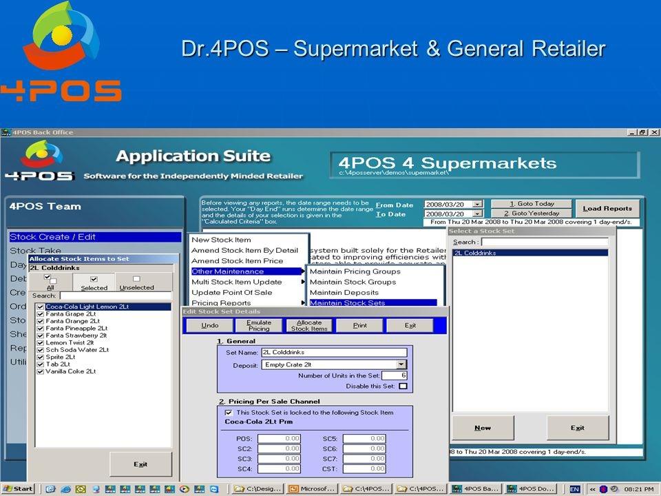 Dr.4POS – Supermarket & General Retailer Question 8 : And all these functions – how do I keep track of all the cold drinks, crates, items & prices that customers take & then again, record the products that they return.