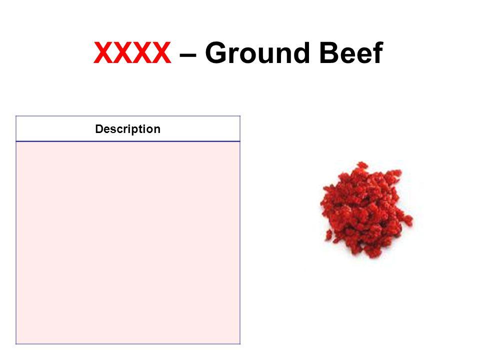 XXXX – Ground Beef Description