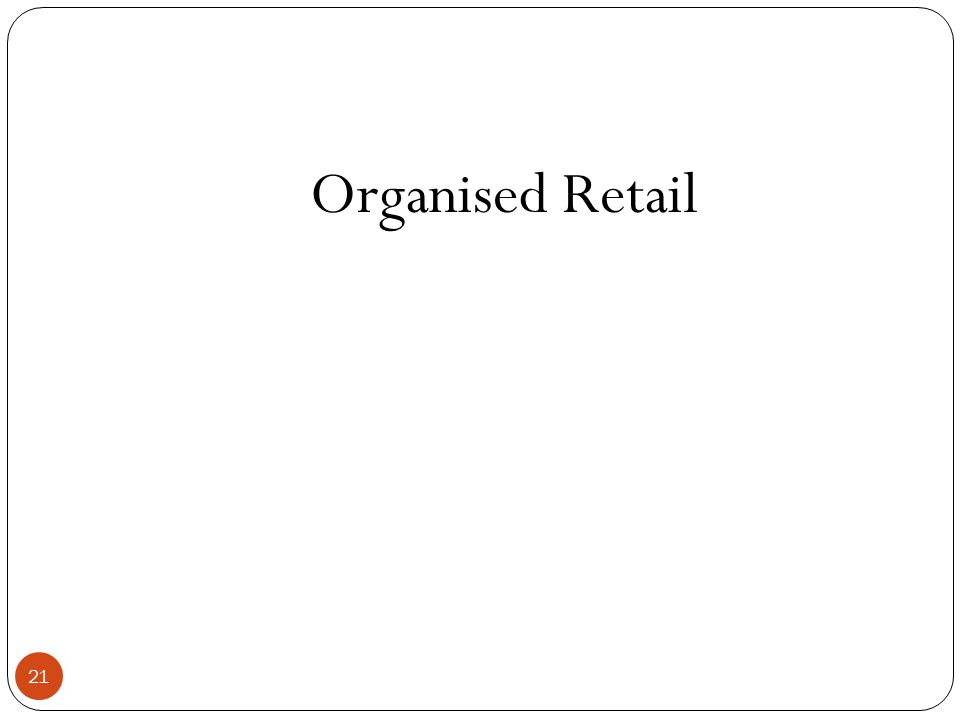 Organised Retail 21