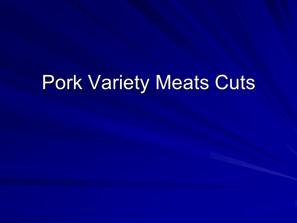Pork Variety Meats Cuts