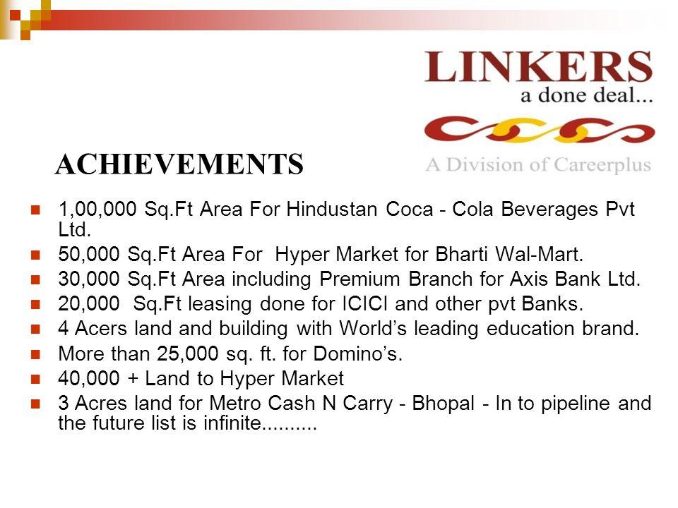 1,00,000 Sq.Ft Area For Hindustan Coca - Cola Beverages Pvt Ltd.