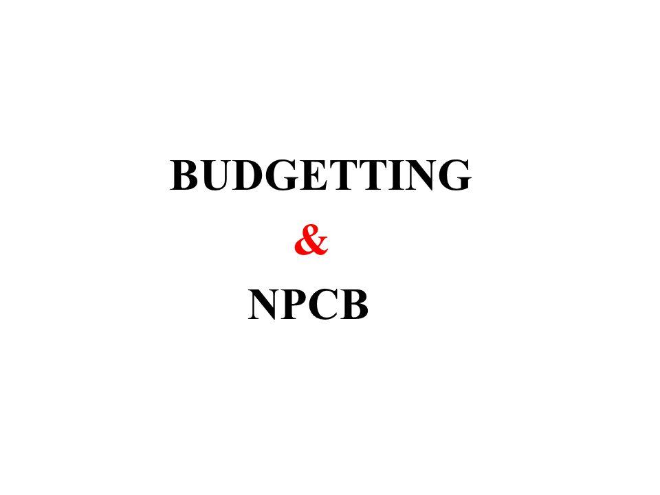 BUDGETTING & NPCB