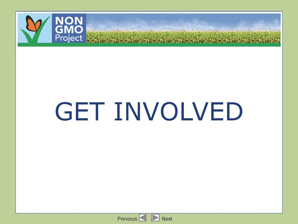 Title:Get Involved GET INVOLVED Previous Next