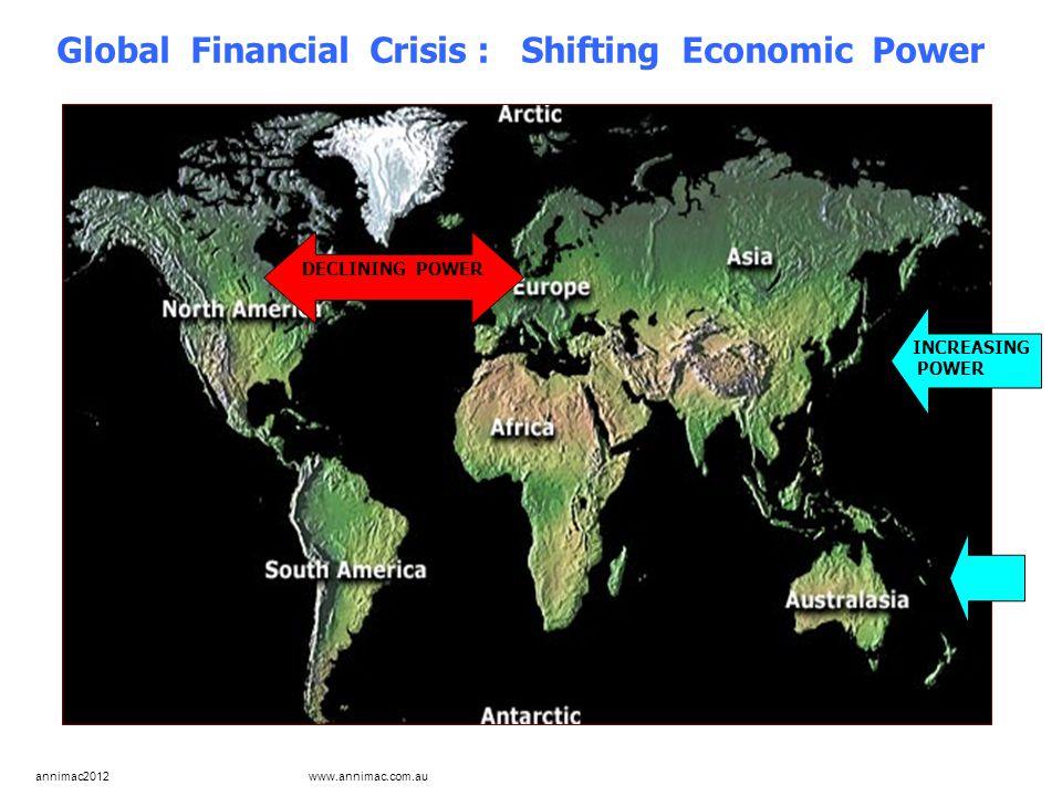 annimac2012 www.annimac.com.au Global Financial Crisis : Shifting Economic Power INCREASING POWER DECLINING POWER