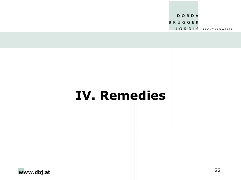 www.dbj.at 22 IV. Remedies