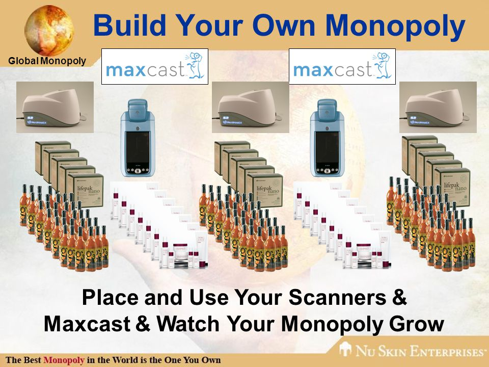 Global Monopoly Build Your Own Monopoly Place and Use Your Scanners & Maxcast & Watch Your Monopoly Grow