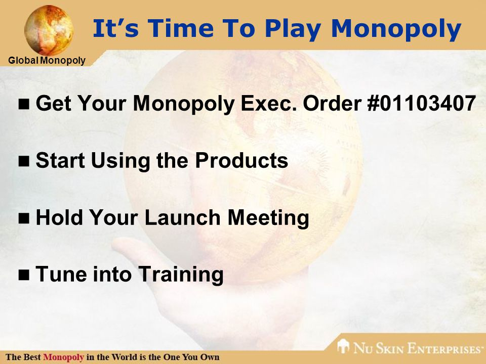 Global Monopoly It's Time To Play Monopoly Get Your Monopoly Exec.