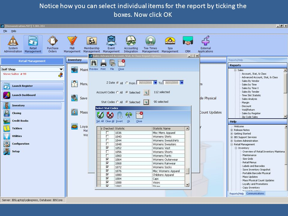 Reports Business Intelligence Flash Report