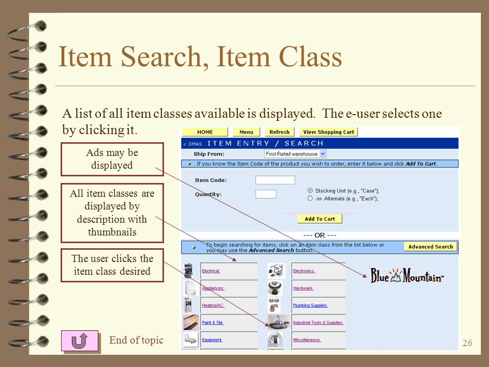 25 Item Related Parts When you click the related parts button, a list screen showing all components is displayed.