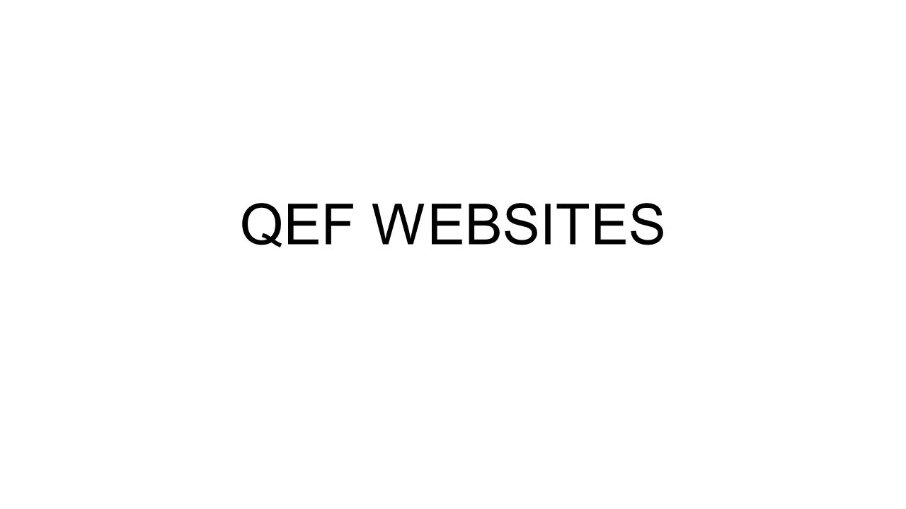 In 2010 One QEF website