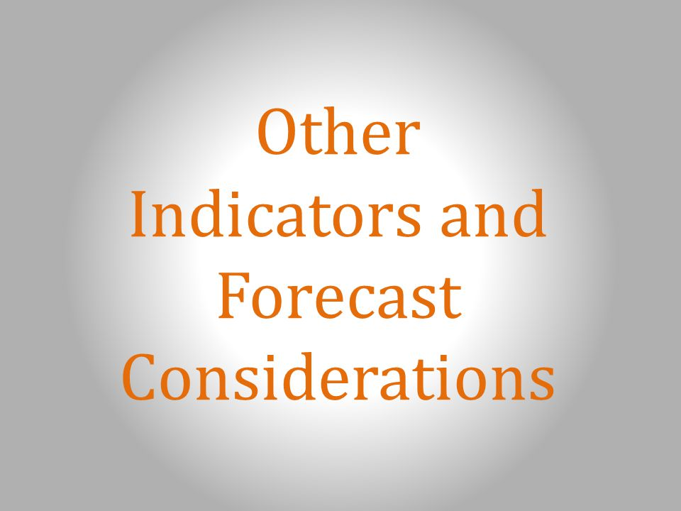 Other Indicators and Forecast Considerations