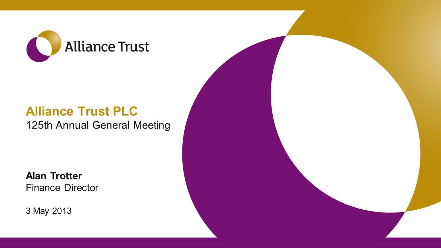 Alliance Trust – then and now