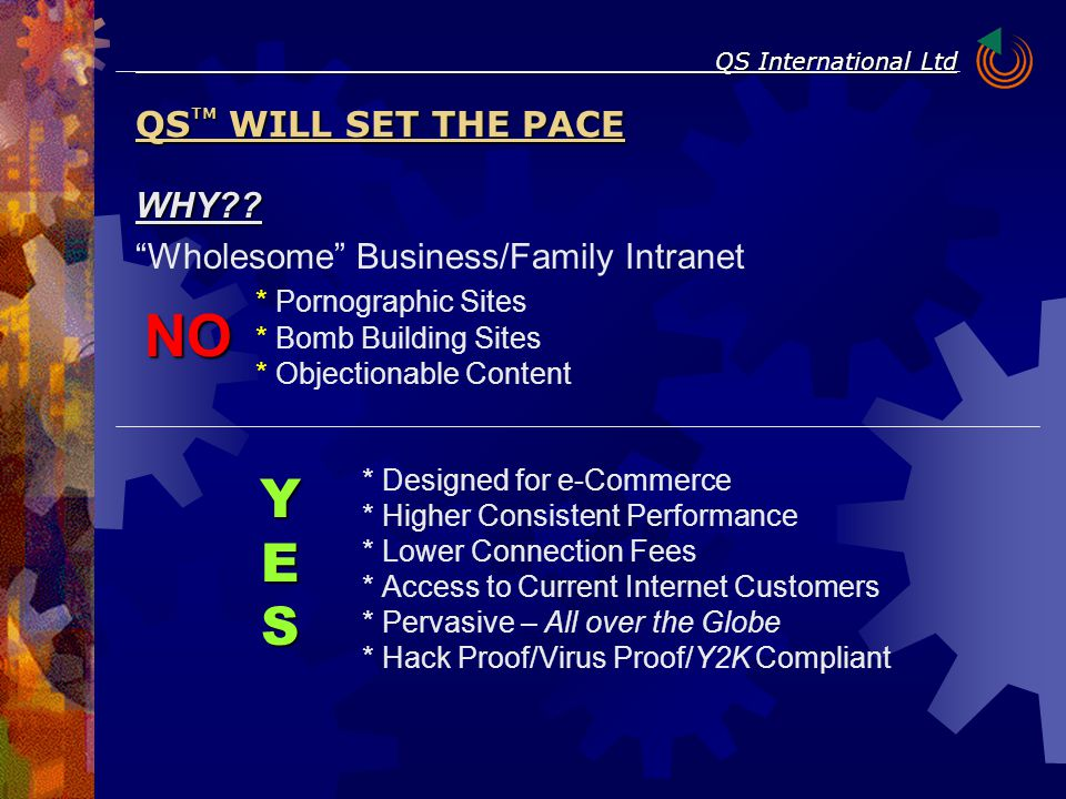 "WHY?? ""Wholesome"" Business/Family Intranet * Pornographic Sites * Bomb Building Sites * Objectionable Content * Designed for e-Commerce * Higher Consi"