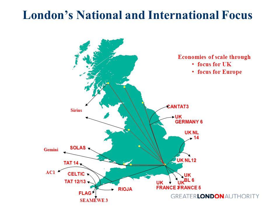 London's Strengths Prime e-businesses