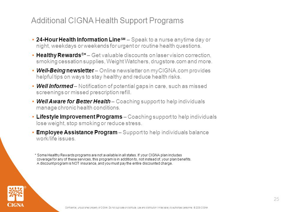 Confidential, unpublished property of CIGNA. Do not duplicate or distribute.