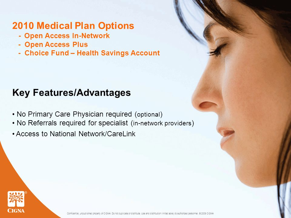 4 2010 Plan Differences BenefitCurrent HMOOpen Access In-Network Specialist$20 copay$25 copay Advanced Radiology (MRI, CAT, PET Scans) 100%$50 copay per scan/per day Short-Term Rehab (PT/OT/ST)$20 copay$25 copay Chiropractic Care$20 copay, 36 visits$25 copay, unlimited Prescriptions Preferred Brand Name Non-Preferred Brand Name $25 copay $40 copay $30 copay $50 copay Emergency Care$25 copay$100 copay