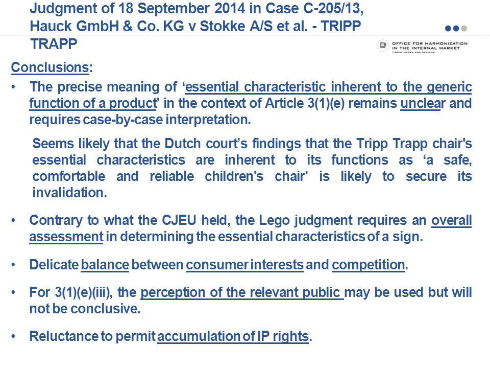 Judgment of 18 September 2014 in Case C-205/13, Hauck GmbH & Co.