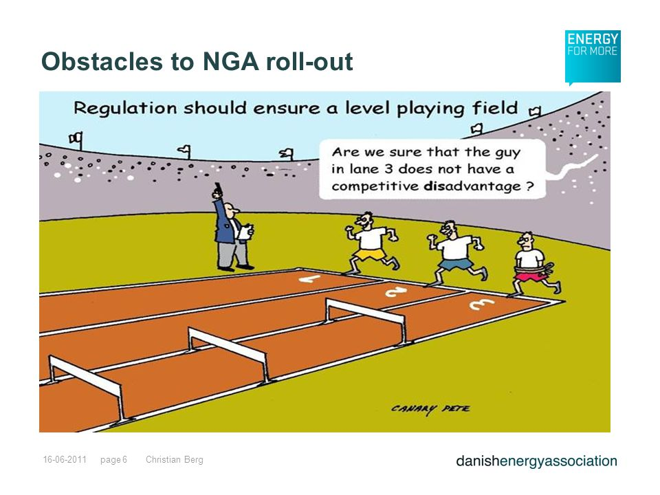 page16-06-2011Christian Berg6 Obstacles to NGA roll-out