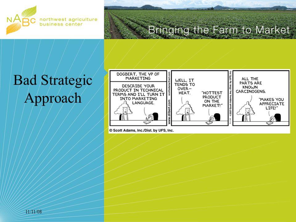11/11/08 Bad Strategic Approach