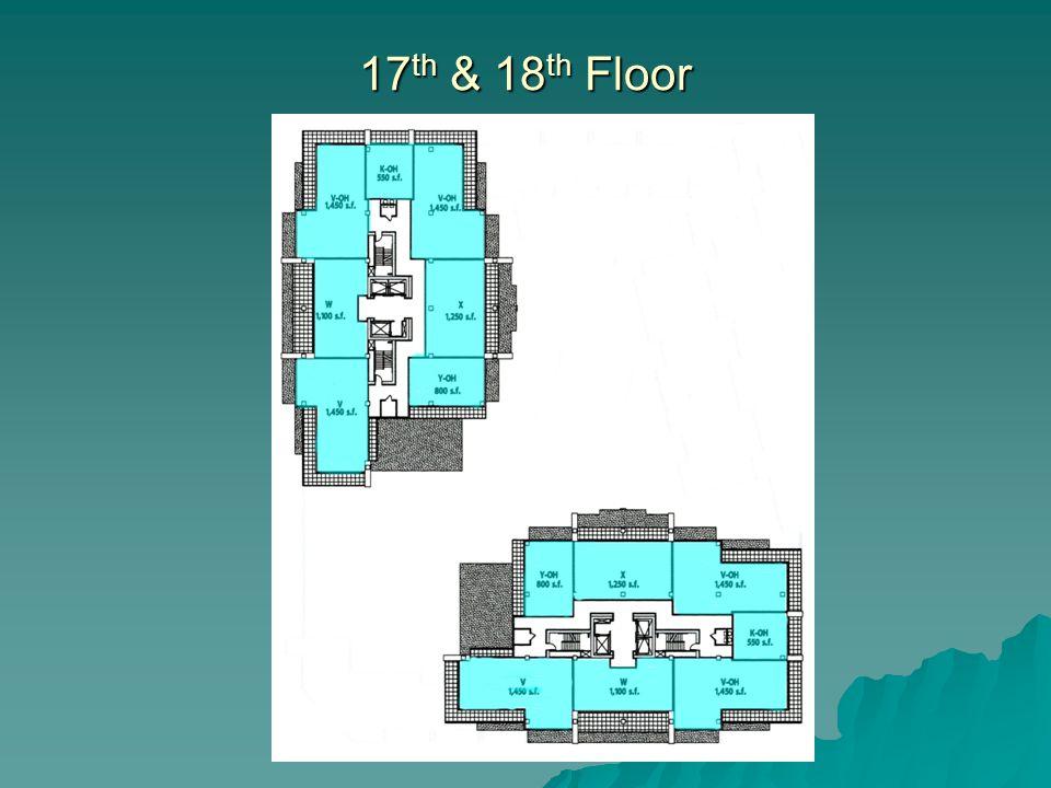 17 th & 18 th Floor