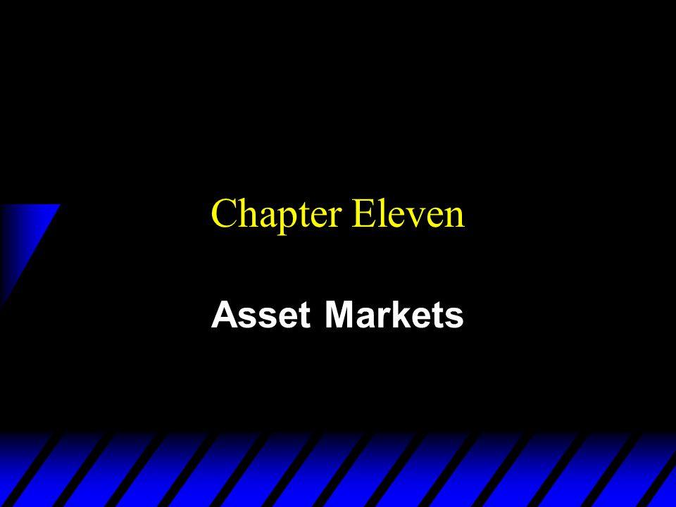 Assets u An asset is a commodity that provides a flow of services over time.