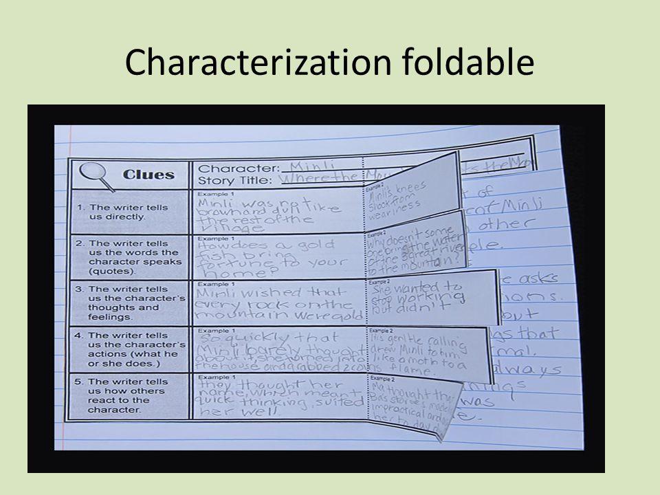 Characterization foldable