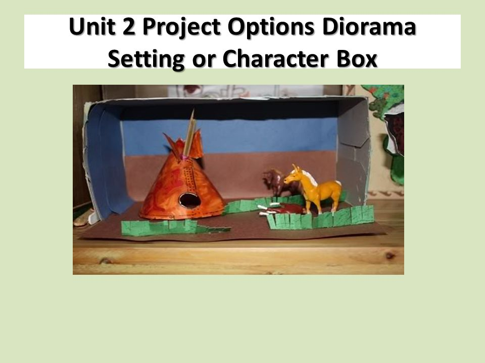 Unit 2 Project Options Diorama Setting or Character Box