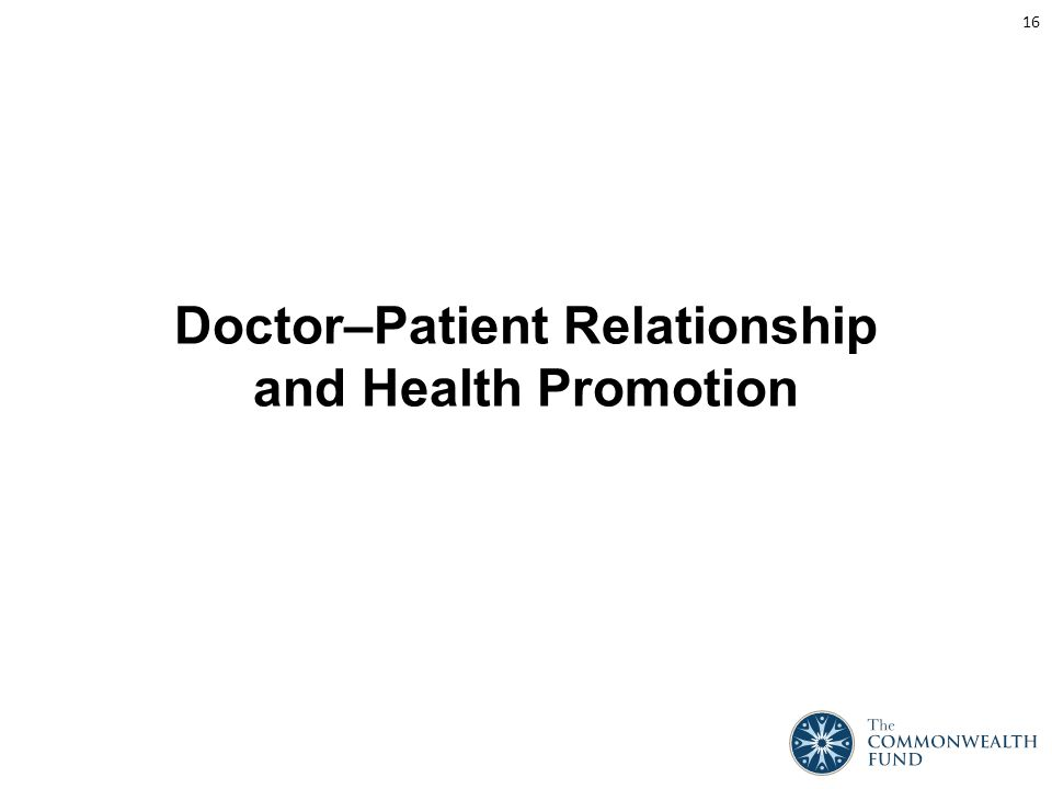 Doctor–Patient Relationship and Health Promotion 16