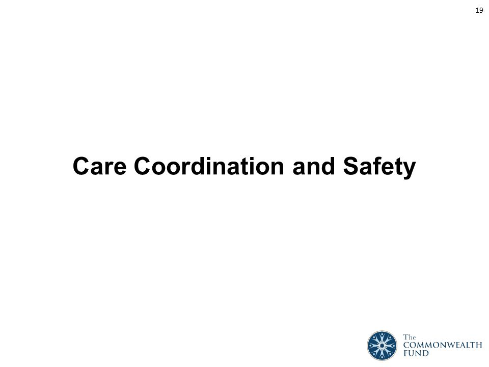 Care Coordination and Safety 19