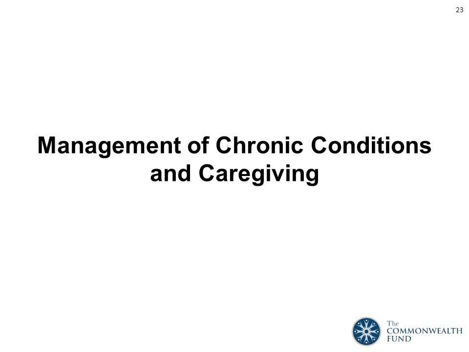 Management of Chronic Conditions and Caregiving 23