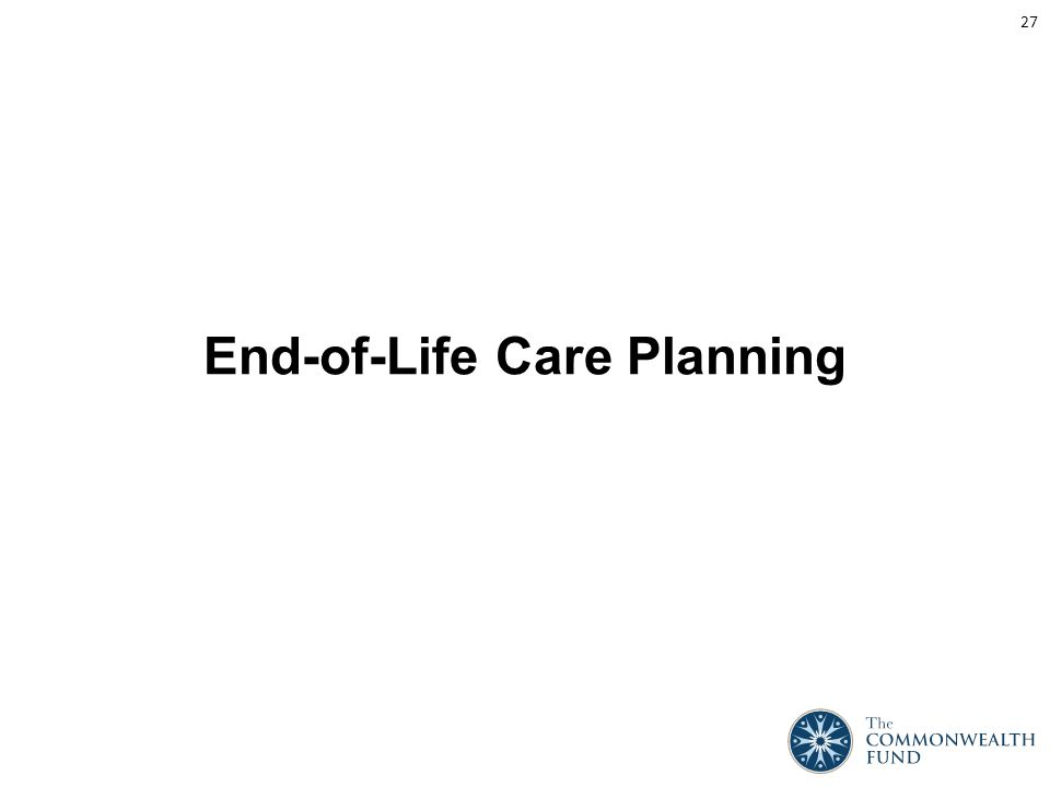 End-of-Life Care Planning 27