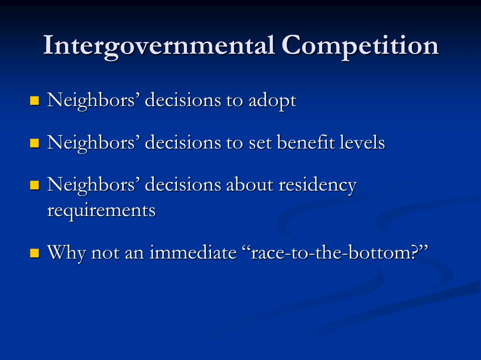 Citizenship and Program Benefits What social rights do we have.