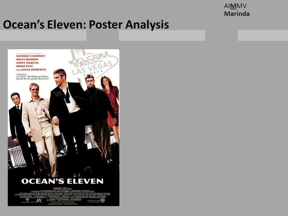 Ocean's Eleven: Poster Analysis AIMMV Marinda