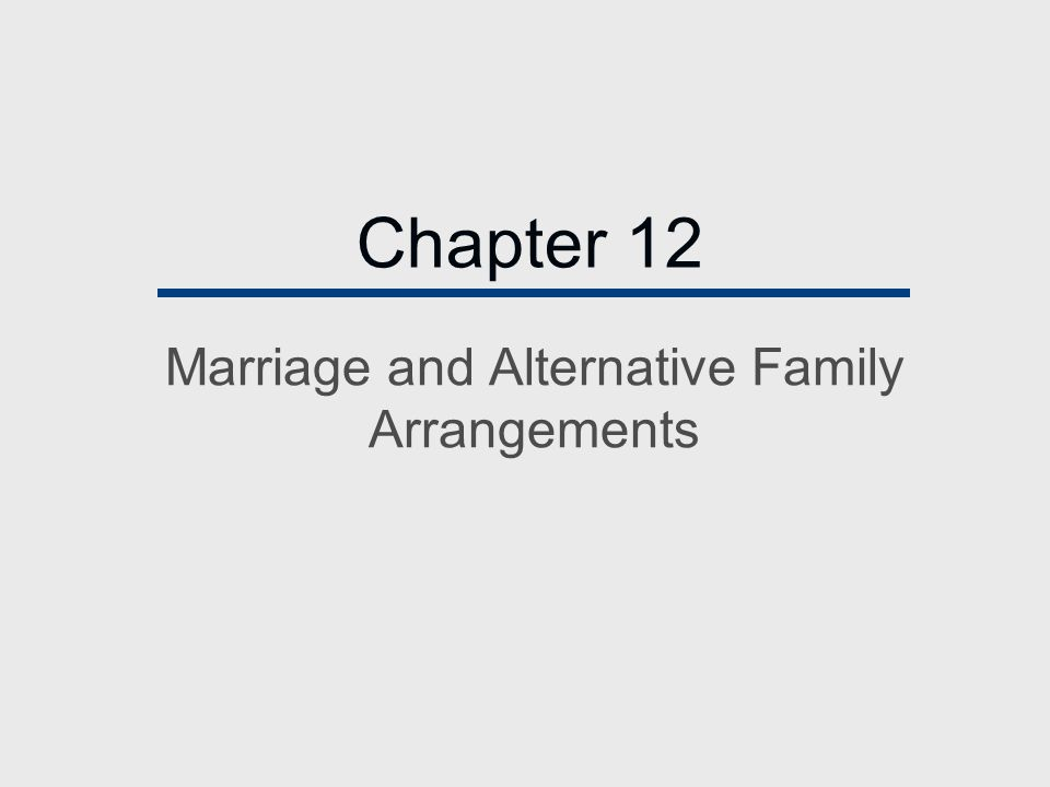 Chapter Outline  The Nature of Family Life  Defining Marriage  The Transformation of the Family  Family Diversity  The Future: Bright or Dismal?