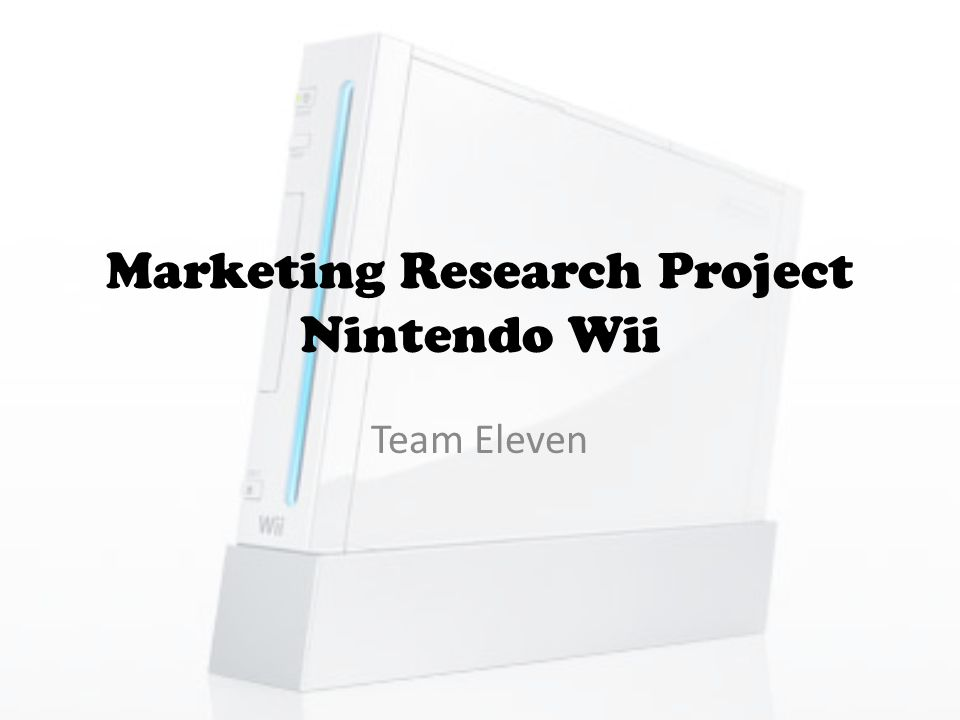 TARGET MARKET Behavioral Kind of shopping Comparison: The Nintendo Wii competes against similar game systems such as the Xbox 360 and the PS3.