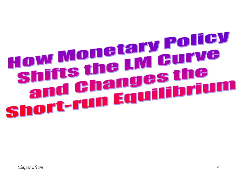 5 LM r Y IS A +G+G Consider an increase in government purchases.