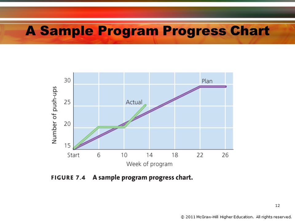© 2011 McGraw-Hill Higher Education. All rights reserved. A Sample Program Progress Chart 12