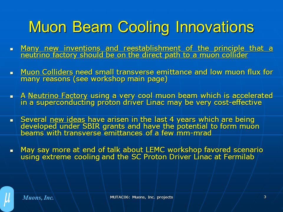 MUTAC06: Muons, Inc.projects 4 Muons, Inc.