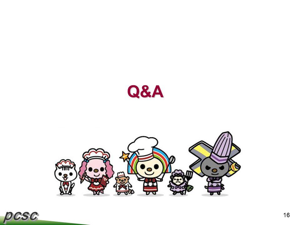 pcscpcsc 16 Q&A