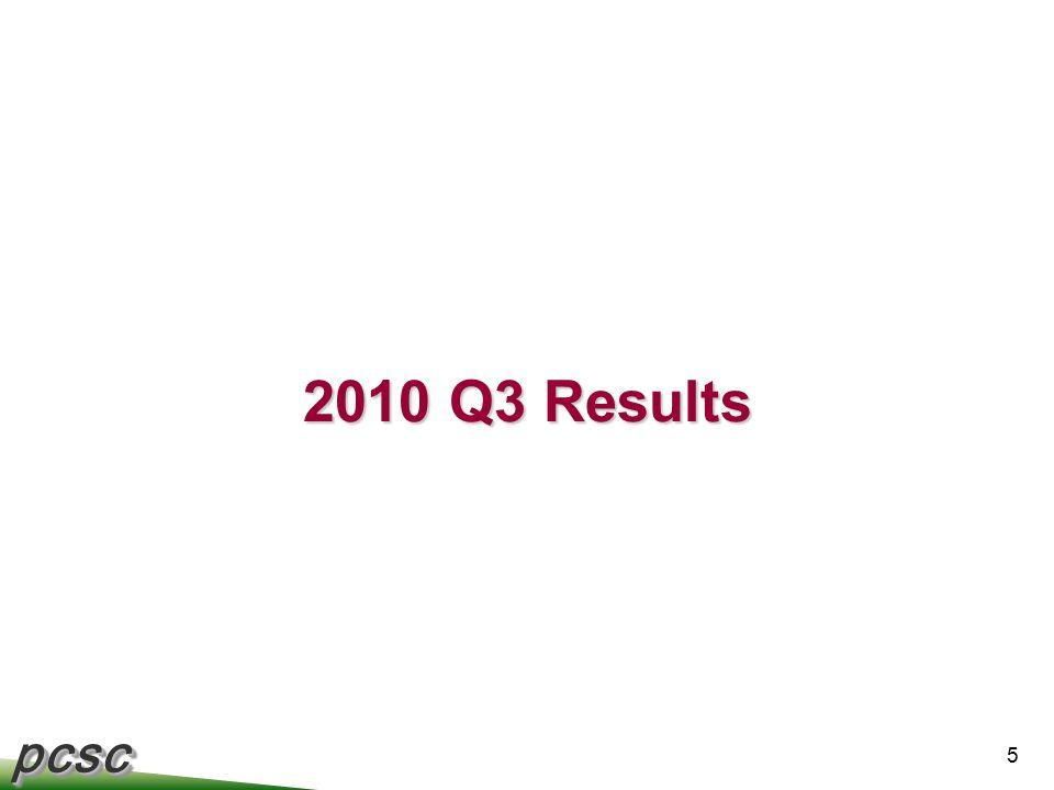 pcscpcsc 5 2010 Q3 Results