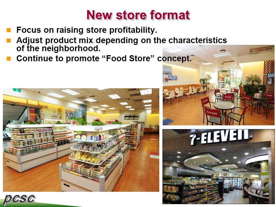 pcscpcsc 7 New store format Focus on raising store profitability.