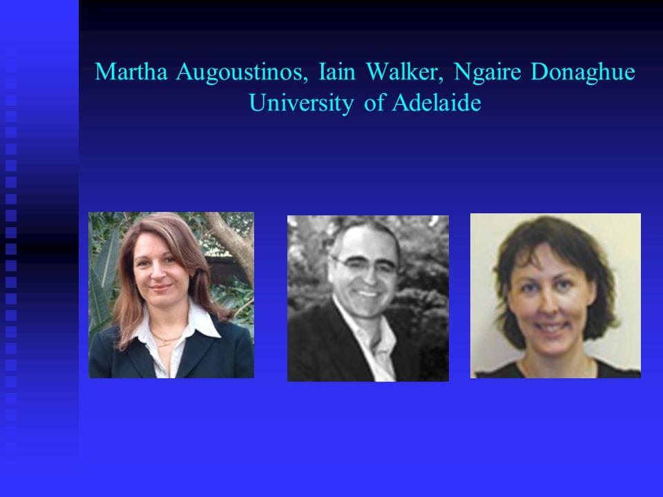 Martha Augoustinos, Iain Walker, Ngaire Donaghue University of Adelaide