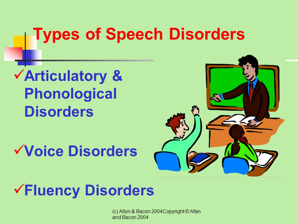 (c) Allyn & Bacon 2004Copyright © Allyn and Bacon 2004 Identification, Assessment, and Eligibility Students with speech or language impairments are th