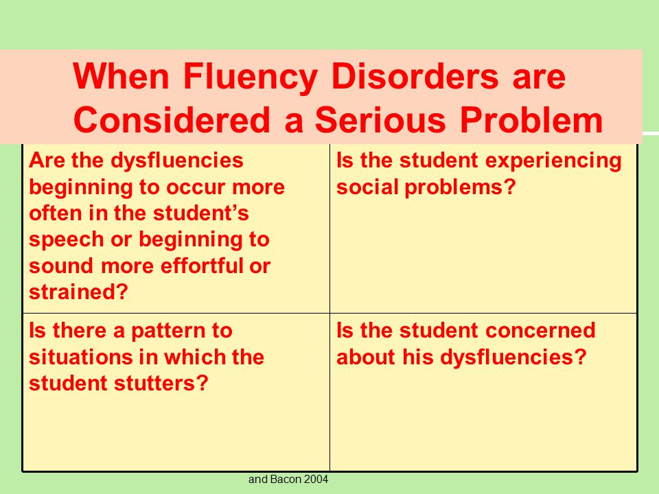 (c) Allyn & Bacon 2004Copyright © Allyn and Bacon 2004 Causes of Stuttering  There are many causes of stuttering.  There is growing evidence support