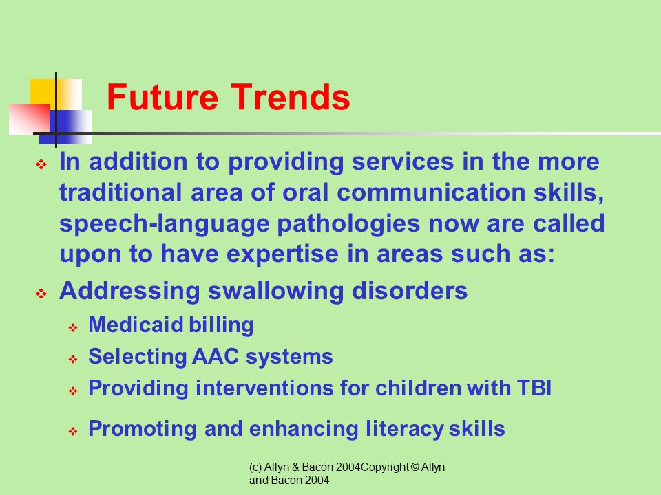 (c) Allyn & Bacon 2004Copyright © Allyn and Bacon 2004 Promoting Inclusive Practices for Students with Communication Disorders  In years past, pullou