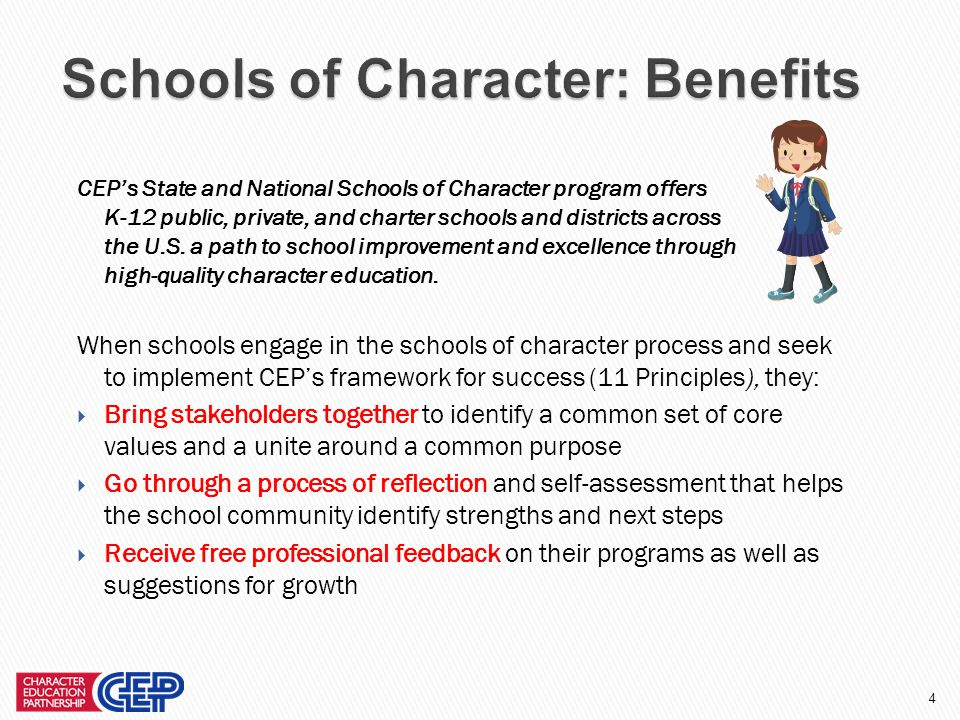 44 Character Education Partnership, 2012 © Presentation Developers: Lara Maupin NSOC Director Eileen Dachnowicz CEP Screener, Site Visitor, Trainer, and Book Author